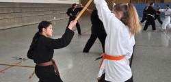 Kim und Judith beim Bo-Sai-Kumite.